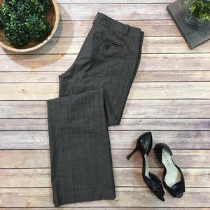 Size 8 Ann Taylor Gray Plaid Bootcut Dress Pants